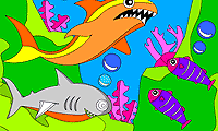 play Rosy Coloring: Sharks