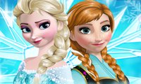 Vestindo as irmãs Frozen …
