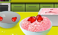 Glace fraise : cole de cuisine de Sara