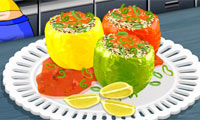 Sara\'s Cooking Class: Stuffed Peppers