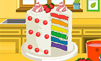 Game Emma's Recipes: Rainbow Clown Cake