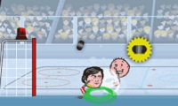 Sportsheads Ice hockey Game : Winter is here, put on your skates and let's play some ice hockey!