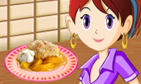 Play Sara&#039;s Cooking Class: Peach Cobbler Games